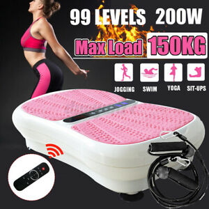 Vibration Plate Exercise Whole Body Fitness Platform Machine Power Fit Workout