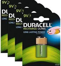 4 X Duracell 9 V bloc PP3 170 mAh Rechargeable piles HR22 6LR61 HR9V DC1604