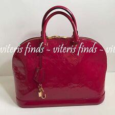 Authentic Louis Vuitton Alma GM Fuchsia Vernis Leather Satchel Handbag