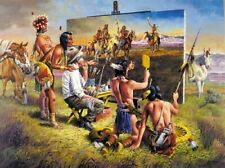 Jigsaw Puzzle Ethnic Native American Brush with the Past  1000 pieces NEW USA