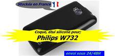 PHILIPS W732 COQUE ÉTUI SIMPLE ET PRATIQUE SOUPLE / SILICONE, COULEUR NOIR