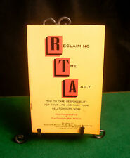 """'Reclaiming The Adult' Book """"SIGNED"""" By Authors Peter & Fran Florscheim VF+"""