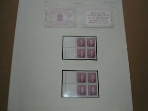 1950 CANADA Stamps KGV1 25Cents BOOKLET CAREFULLY DECONSTRUCTED SGSB44 MINT