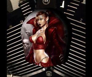 Harley Davidson Custom Horn cover Touring Dyna Softail Sportster M8 FANTASY GIRL