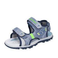 Scarpe bambino SUPER JUMP 31 EU sandali blu pelle grigio tessuto BM909-31