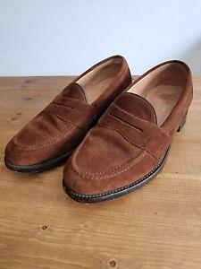 Loake Eton Brown Suede Loafers UK 7F