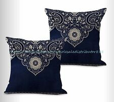 US SELLER, 2pcs Chinese porcelain cushion cover outdoor pillow covers