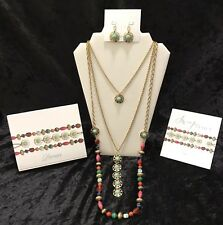 NEW Premier Designs Jewelry SWAP IT OUT 3 Pc Necklace & Earrings Set Gold CZ Box