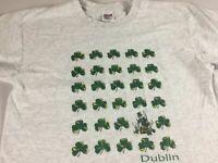 Dublin California T-Shirt VTG Adult SZ M/L Irish Lucky 90s Mens Womens Pot Gold