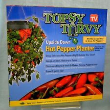 Tv Topsy Turvy Upside Down Hot Pepper Planter Nw Grow Balcony Deck Patio Organic