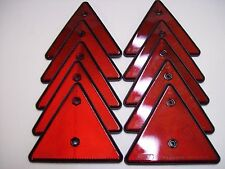 10 x Triangular Reflectores Rojos Para Remolques/esgrima/Postes/Puertas/las calzadas Etc