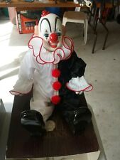 Vintage Porcelain Dynasty Doll Collection Clown Doll*Excellent Condition 16�tall
