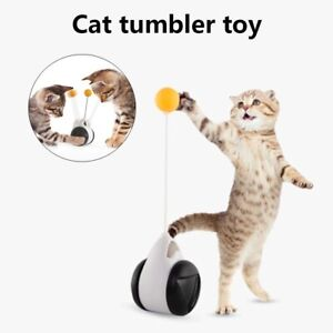 Pet Dog Cat Puppy Interactive Toy Play Tumbler Teasing Wand Ball Rotating Wheels