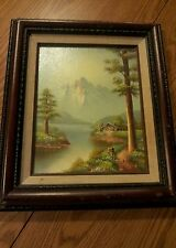 Painting collectors corner COA shadow frame nice mat great colors K. Harmond org