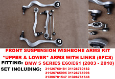 BMW 5 SERIES E60 UPPER&LOWER FRONT SUSPENSION CONTROL ARMS AND DROP LINKS BAR