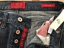 "Lucky Brand 121 Heritage Slim Handcrafted waist 30"" Ins.27.5 women's jeans dark"
