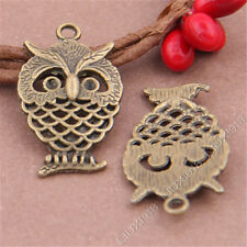 20pc Antique Bronze Animal Owl Pendant Charms Jewellery Making Crafts S350T