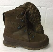 HAIX BROWN SUEDE DESERT HIGH LIABILITY COMBAT BOOTS - Size: 9 M , British Army