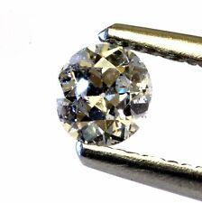 GIA loose certified .42ct I2 I round circular European cut diamond natural