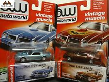 Auto World 1976 Pontiac Firebird T/A Set of 2 - 1:64 Premium R5 C&D 1 of 1836
