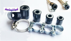 RUBBER END CAPS AND STEEL CLIPS WITH BRAIDED NITRILE HOSE MANY SIZES
