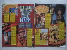 Stars Favorite Food Bangles Eurythmics Tom Jones Cher Jagger clippings Germany