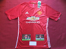 MANCHESTER UNITED JUAN MATA GENUINE SIGNED HOME 2016/17 SHIRT- BNWT- PHOTO PROOF