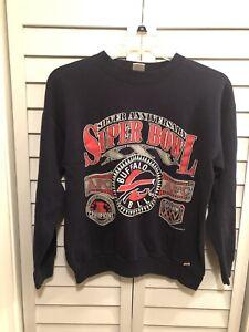 Vintage Logo 7 Buffalo Bills Silver Anniversary Super Bowl 25 Sweatshirt Size L