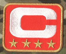 2015 SUPER BOWL DENVER BRONCOS CAPTAINS ORANGE JERSEY FOUR-STAR 4-⭐C-PATCH