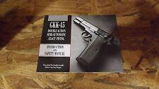 New Factory Original - Kbi & Feg Gkk-45 Owner's Manual (H149*)