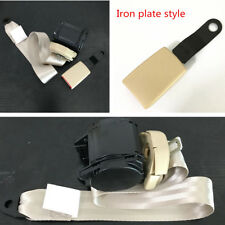 3 Point Retractable Iron Plate Style Car SUV Safety Seat Lap Belt Set Universal