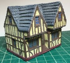 15 mm European Tudor style House Cantilever Style Unpainted building miniature