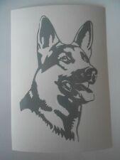 Schäferhund Aufkleber grau neu 13 x 8cm