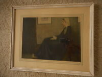 Whistlers Mother Print Picture James McNeill Whistler Kitsch Vintage apx21x17