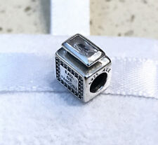 Pandora Signature Scent, Clear Charm #791889CZ + FREE Gift Packaging + Pouch