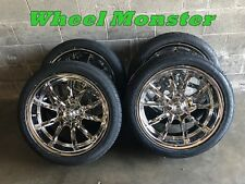 20x8 & 20x10 Staggered Chrome Ridler Wheels and tires 5x5 GM Truck Chevy gmc