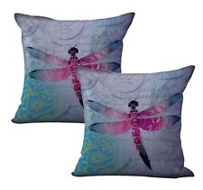 Us Seller- 2pcs dragonfly cushion cover home decor interiors