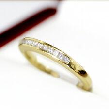 Lovely vintage Princess cut Diamond engagement ring, half eternity or wedding ba