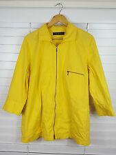 MAGGIE T sz 14 - 16 womens Yellow Light Zip Jacket