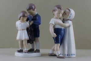 Two B & G (Bing & Grondahl) figures of children. Number 1614 and 2312.