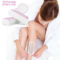 100pcs New Wax Strip Paper Roll Waxing Hair Removal Depilatory Nonwoven Epilator