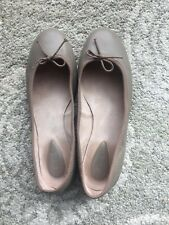 Bloch Ballet Fonteyn Flats Taupe  Leather Shoes Size Women 7