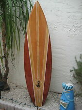 Tropical Decorative Wood Surfboard Wall Art for a Coastal Beach Home Decor