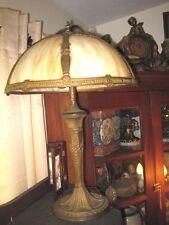 Antique MILLER Carmel Slag Glass Table Lamp
