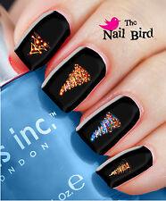 Nail Art Nail Decals Nail Transfers Natural/Acrylic Nails XMAS TREES & LIGHTS