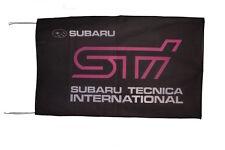 SUBARU STI TECNICA INTERNATIONAL FLAG BANNER   outback forester tribeca 5 X 3 FT