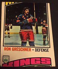 RON GRESCHNER 1976-77 Topps Hockey ERROR Miscut Card OddBaLL RARE