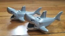 2 - LEGO Great White Shark Jaws Minifig 8633 6243 Minifigurine Rare 5""