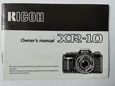 Ricoh XR-10 original printed instruction manual