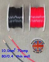 Pared delgada cable 10.0mm², (7AWG) 70amp, Auto, Marino, Bajo Voltaje, TW10.0